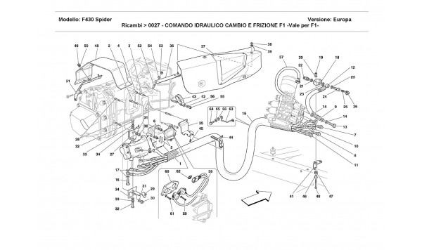 F1 CLUTCH AND GEARBOX HYDRAULIC CONTROL -Valid for F1-