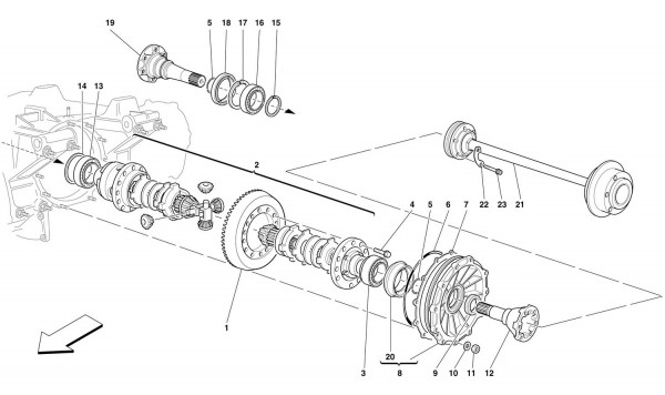 DIFFERENTIAL AND AXLE SHAFT