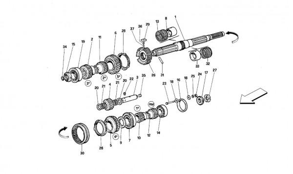 Main shaft gears