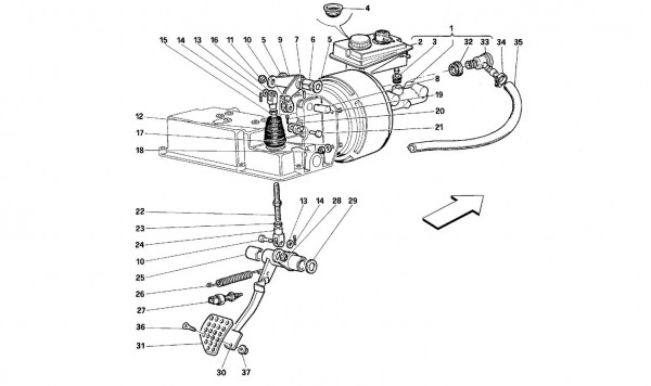 Brake hydraulic system -Valid for GD-