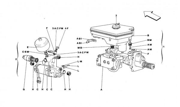 Hydraulic system for ANTISKID