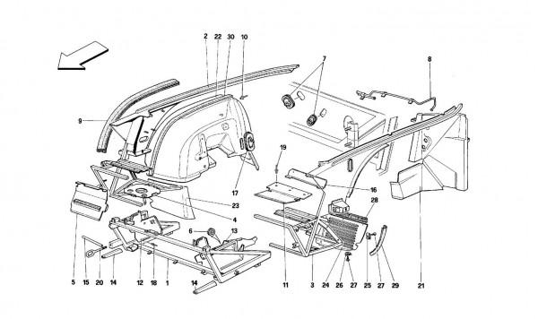 Body shell: inner element - Front part