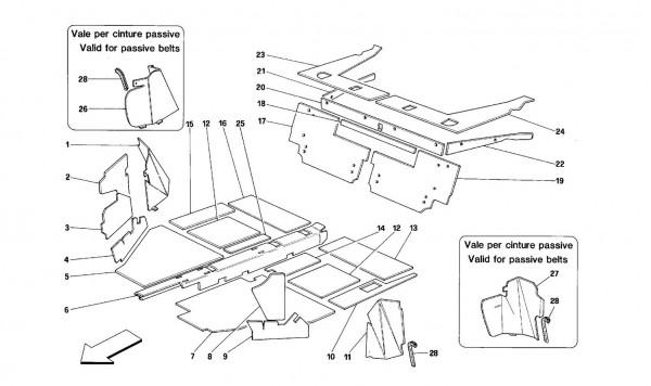 Interior compartment insulation -Cabriolet-