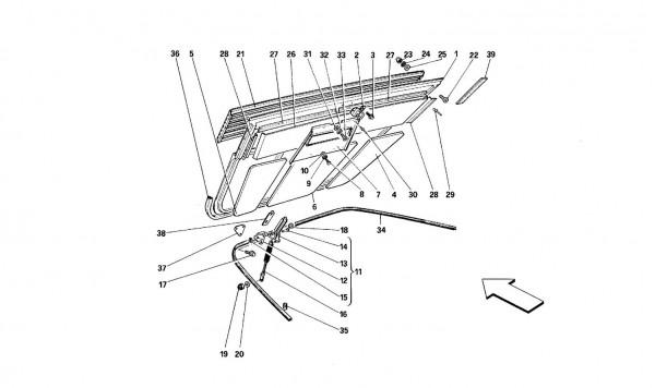 Engine compartment lid - Coupé -