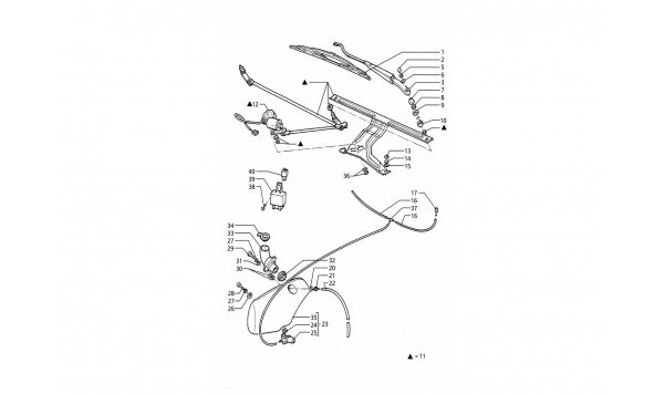WINDSCREEN WIPER - WASHER (L.H.DRIVE)