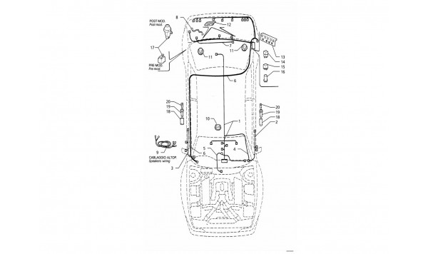 ELECTRICAL SYSTEM: BOOT/DOORS/PASSANGER COMPARTMENT (R.H.DRIVE)