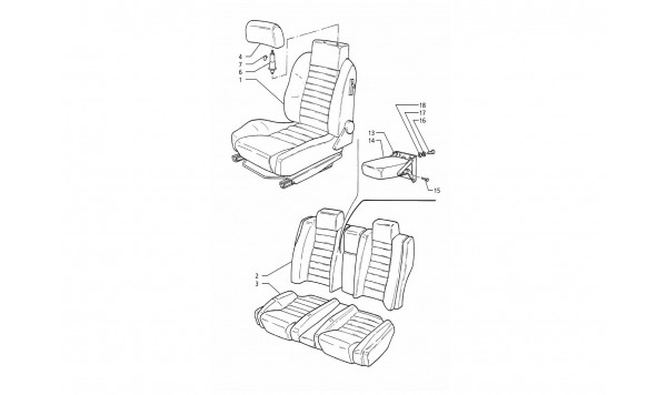 FRONT AND REAR SEATS