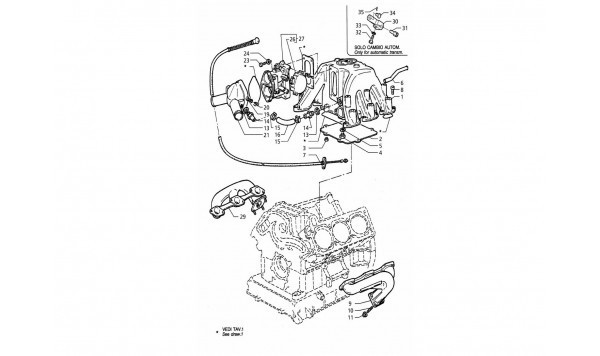 INTAKE AND EXHAUST MANIFOLD - THROTTLE VALVE BODY