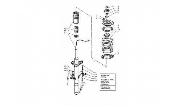 FRONT SHOCK ABSORBER (PRE-MODIFICATION)