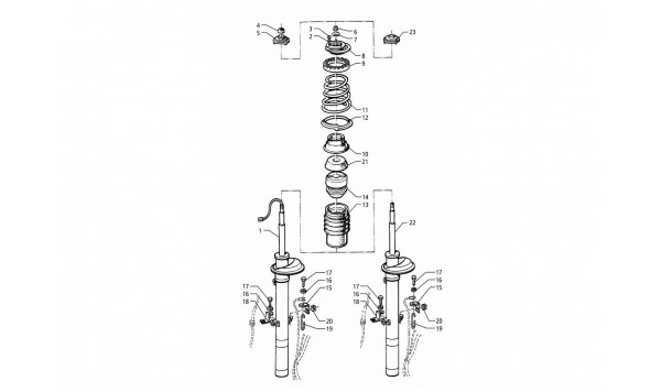 FRONT SHOCK ABSORBER (POST-MODIFICATION)