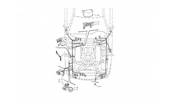 ELECTRICAL SYSTEM: ENGINE COMPARTMENT (L.H. DRIVE - R.H. DRIVE)
