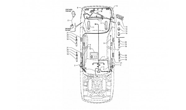 ELECTRICAL SYSTEM: BOOT/DOORS/PASSANGER COMPARTMENT (R.H. DRIVE)