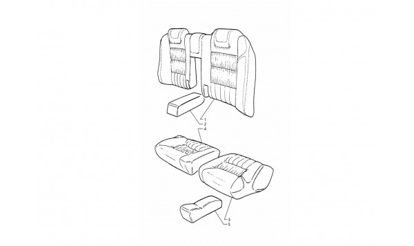 REAR SEAT UPHOLSTERY