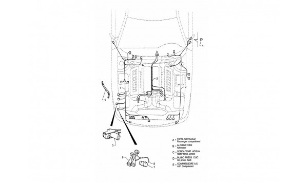ELECTRICAL SYSTEM: ENGINE COMPARTMENT (LEFT H.D.)