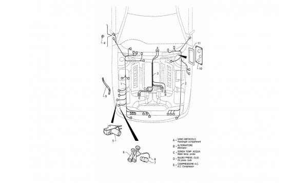 ELECTRICAL SYSTEM: ENGINE COMPARTMENT (RIGHT H.D.)