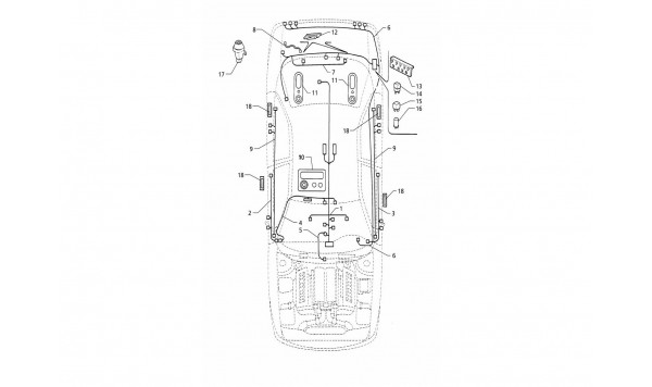 ELECTRICAL SYSTEM: BOOT/DOORS/PASSANGER COMPARTMENT (LEFT H.D.)
