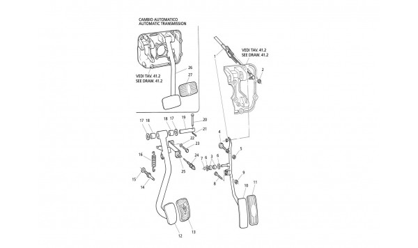 BRAKE AND ACCELERATOR PEDALS (R.H. Drive)