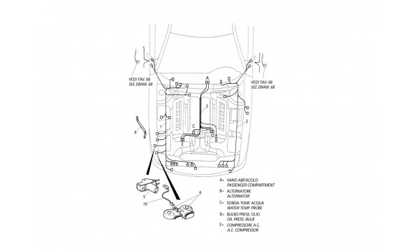 ELECTRICAL SYSTEM: ENGINE COMPARTMENT (R.H. Drive)