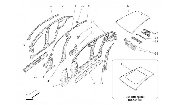 BODYWORK AND CENTRAL OUTER TRIM PANELS