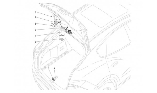 REAR LIFTGATE OPENING CONTROL