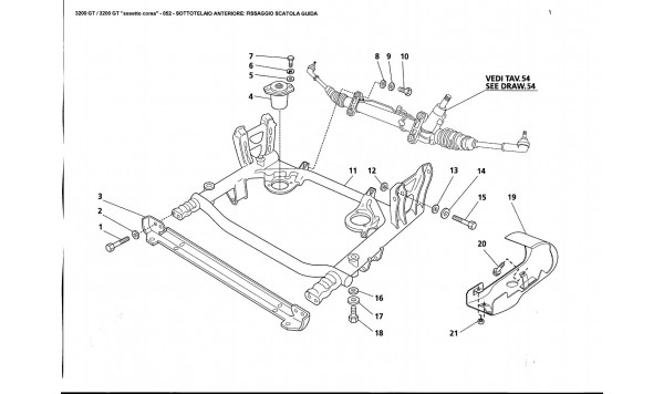 FRONT SUBFRAME: STEERING BOX FASTENING