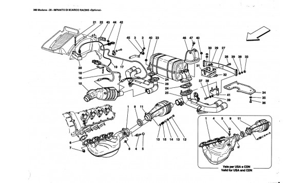 RACING EXHAUST SYSTEM -Optional-
