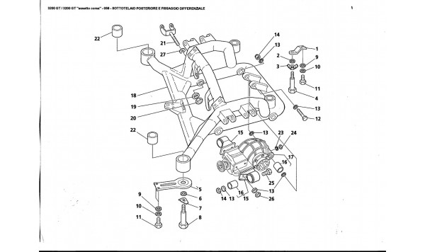 REAR UNDER-CHASSIS AND DIFFERENTIAL FASTENING