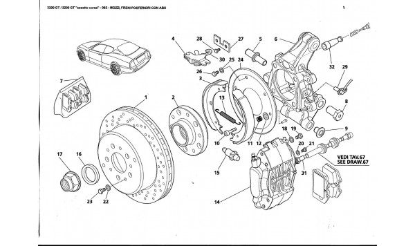 REAR HUBS AND BRAKES WITH ABS