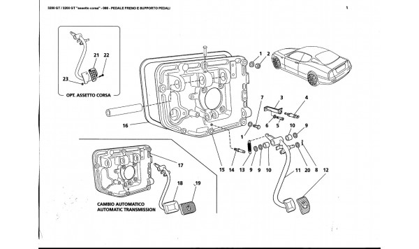 BRAKE PEDAL AND PEDAL SUPPORT