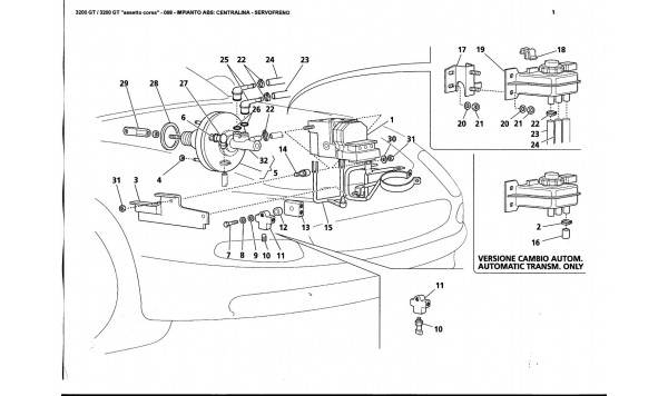 ABS SYSTEM: CONTROL UNIT - BRAKE BOOSTER
