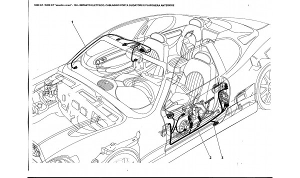 ELECTRICAL SYSTEM: DRIVER'S DOOR AND FRONT CEILING LIGHT HARNESS