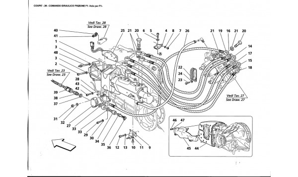 F1 CLUTCH HYDRAULIC CONTROLS - Valid for F1-