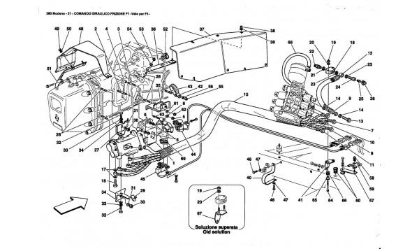 F1 CLUTCH HYDRAULIC CONTROL -Valid far F1-