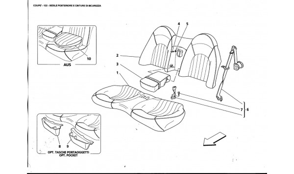 REAR SEAT AND SEAT BELT