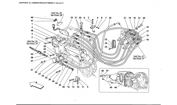F1 CLUTCH HYDRAULIC CONTROLS -Valid far F1-