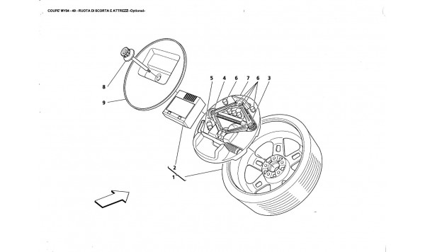 SPARE WHEEL AND EQUIPMENT -Optianal-