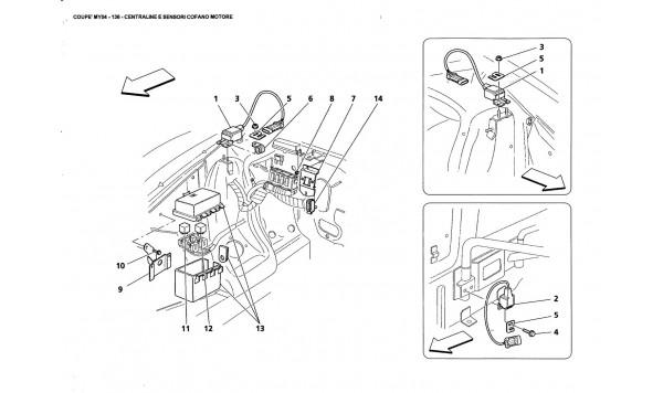 ENGINE BONNET SENSOR AND CONTROL STATIONS