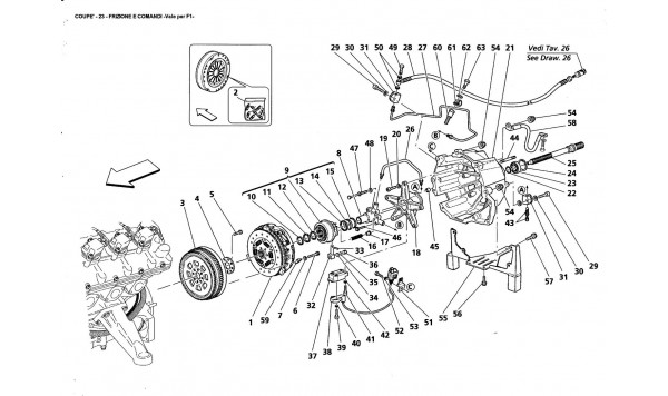 CLUTCH AND CONTROLS -Valid far F1-