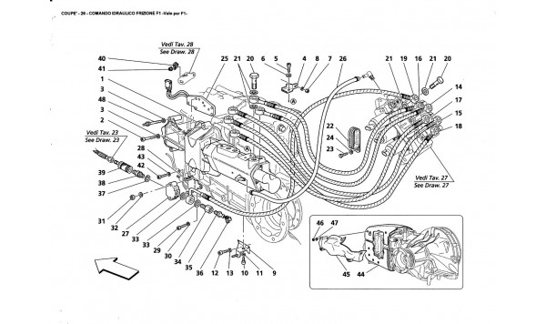 F1 CLUTCH HYDRAULIC CONTROLS -Valid far F1-