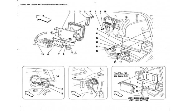 R.H. SIDE TRUNK BONNET SENSOR AND CONTROL UNITS