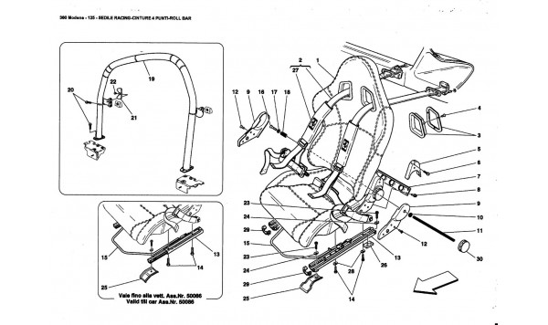 RACING SEAT-4 POINT BELTS-ROLL BAR