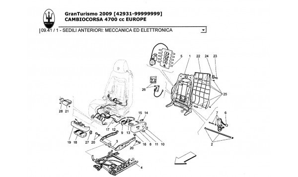 FRONT SEATS: MECHANICS AND ELECTRONICS