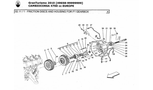FRICTION DISCS AND HOUSING FOR F1 GEARBOX