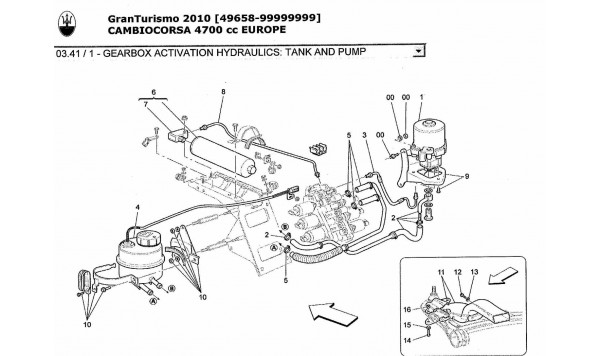 GEARBOX ACTIVATION HYDRAULICS: TANK AND PUMP