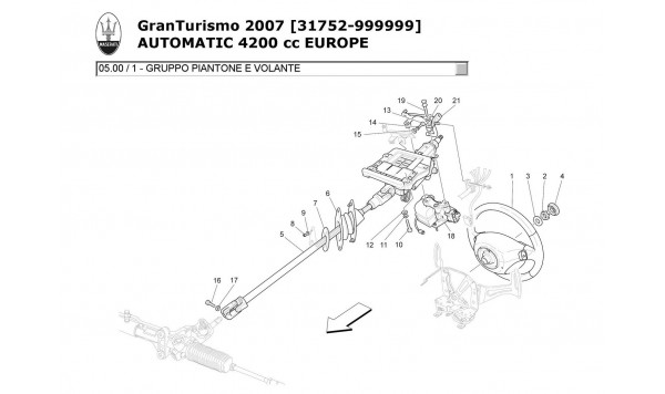 STEERING COLUMN AND STEERING WHEEL UNIT