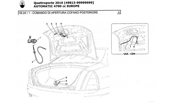 REAR LID OPENING CONTROL
