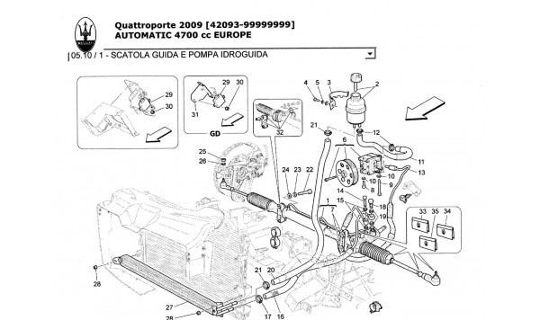 STEERING BOX AND HYDRAULIC STEERING PUMP