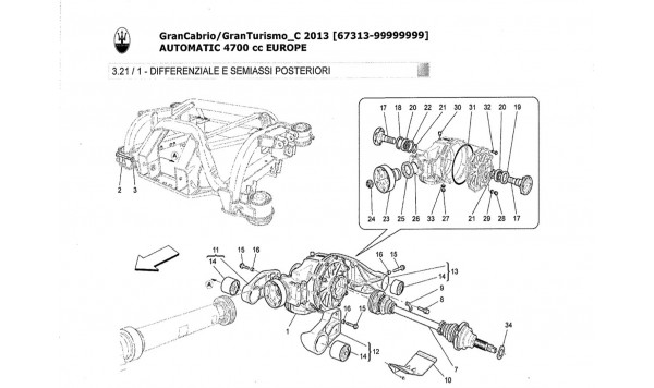 DIFFERENTIAL AND REAR AXLE SHAFTS