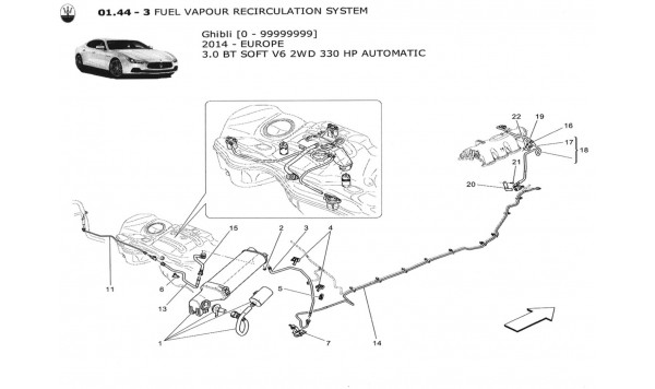 FUEL VAPOUR RECIRCULATION SYSTEM