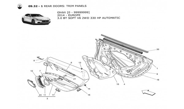 REAR DOORS: TRIM PANELS